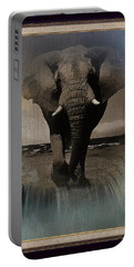 Wild Elephant Montage Portable Battery Charger