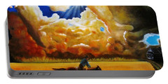 Portable Battery Charger featuring the painting Wild Fire  by Gene Gregory