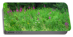 Wild Flowers And Shrubs In Vogelsberg Portable Battery Charger