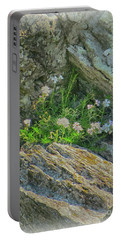Wild Flowers Between The Rocks Portable Battery Charger