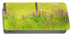 Wild Flowers  By The  Fence Portable Battery Charger