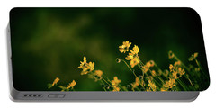 Evening Wild Flowers Portable Battery Charger by Kelly Wade