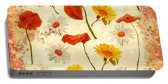 Wild Flowers Vintage Portable Battery Charger