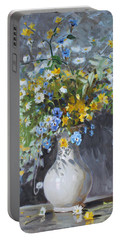 Wild Flowers Portable Battery Charger by Ylli Haruni