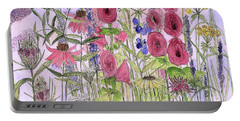 Wild Garden Flowers Portable Battery Charger