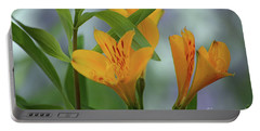 Wild Garden Lilies Portable Battery Charger