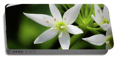 Portable Battery Charger featuring the photograph Wild Garlic Flower by Nick Bywater