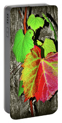 Portable Battery Charger featuring the photograph Wild Grape Vine II By Kaye Menner by Kaye Menner