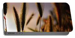 Wild Grasses At Sunset Portable Battery Charger