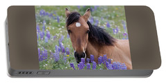 Wild Horse Among Lupines Portable Battery Charger