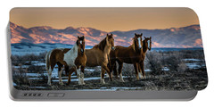 Portable Battery Charger featuring the photograph Wild Horse Group by Bryan Carter