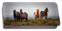 Wild Horses In Ireland Portable Battery Charger