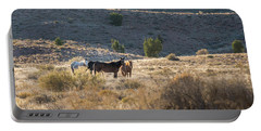 Portable Battery Charger featuring the photograph Wild Horses In Monument Valley by Jon Glaser