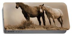 Wild Horses In Western Dakota Portable Battery Charger