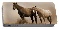 Wild Horses In Western Dakota Portable Battery Charger