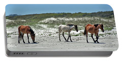 Wild Horses On The Beach Portable Battery Charger