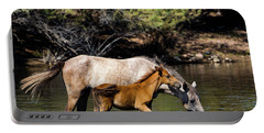 Wild Horses On The Salt River Portable Battery Charger