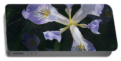 Wild Iris 2 Portable Battery Charger by I'ina Van Lawick