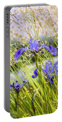 Wild Irises Portable Battery Charger by Marty Saccone