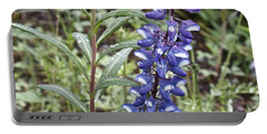 Portable Battery Charger featuring the photograph Wild Lupine by Linda Bianic