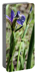 Portable Battery Charger featuring the photograph Wild Maine Iris by Daniel Hebard