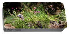 Wild Mama Turkey In The Garden Portable Battery Charger
