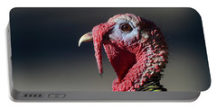 Wild Merriams Turkey Portrait  Portable Battery Charger