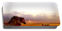 Wild Moorland Ponies Portable Battery Charger