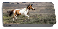 Wild Mustang Stallion On The Move In Sand Wash Basin Portable Battery Charger