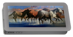 Wild Mustangs Of The Verder River Portable Battery Charger