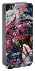 Wild Orchid Abstract Portable Battery Charger