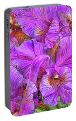 Portable Battery Charger featuring the mixed media Wild Orchids by Carol Cavalaris