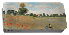 Wild Poppies Near Argenteuil Portable Battery Charger