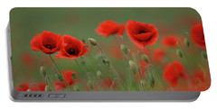 Wild Poppies Portable Battery Charger