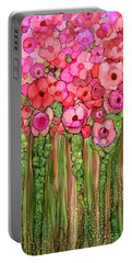 Wild Poppy Garden - Pink Portable Battery Charger