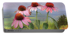 Wild Purple Coneflowers Portable Battery Charger
