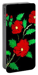 Wild Red Roses Portable Battery Charger