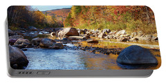 Wild River View Of Scenic Maine Colors Portable Battery Charger