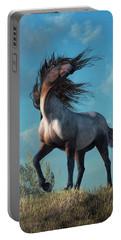 Portable Battery Charger featuring the digital art Wild Roan by Daniel Eskridge