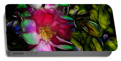 Wild Rose - Colors Portable Battery Charger by Stuart Turnbull
