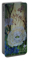 Wild Rose In The Forest Portable Battery Charger by Donna Brown