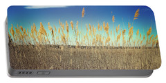 Portable Battery Charger featuring the photograph Wild Sea Oats by Colleen Kammerer