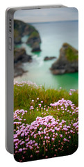Wild Sea Pinks In Cornwall Portable Battery Charger