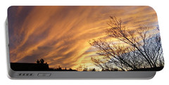 Wild Sky Of Autumn Portable Battery Charger by Barbara Griffin