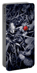 Portable Battery Charger featuring the photograph Wild Strawberry by Iowan Stone-Flowers