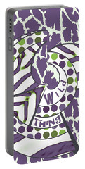 Portable Battery Charger featuring the digital art Wild Thing by Methune Hively