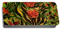 Wild Tulips Portable Battery Charger
