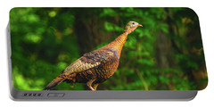 Wild Turkey Profile On Rooftop Portable Battery Charger