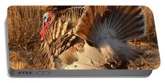 Portable Battery Charger featuring the photograph Wild Turkey Tom Following Hens by Max Allen