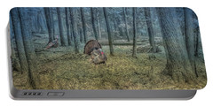 Wild Turkeys In Forest Version Two Portable Battery Charger
